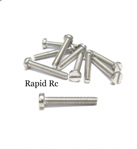 M4 x 25mm Stainless Steel Slotted Machine Screw